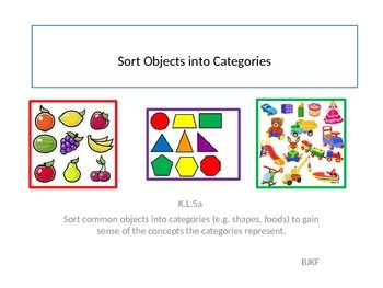 Sort Objects into Categories with Student Worksheet