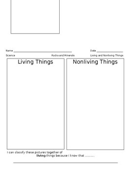 Sort Papers for Living and Nonliving Things