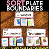 Sort Plate Boundaries - Plate Tectonics  -  Fourth Grade Science Stations