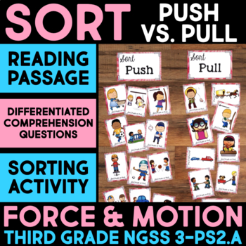 Sort Push vs. Pull - Force & Motion Science Station