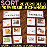 Sort Reversible and Irreversible Changes - Second Grade Science Stations