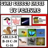 Sort Select & Label by Feature Autism ABA ABLLS-R B18, C38, G16