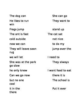 Sort Sentences Complete/Fragment