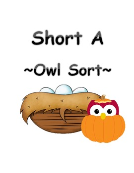 Sort Short A Words With Owls