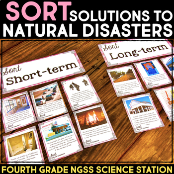 Sort Short & Long Term Solutions for Natural  Disasters -  4th Grade Stations