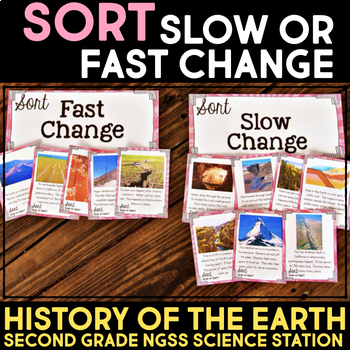 Sort Slow or Fast Changes - Second Grade Science Stations