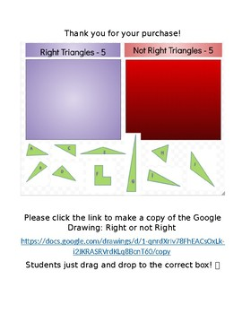 Sort Triangles as right or not right