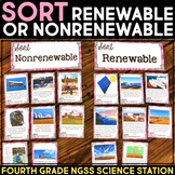 Sort Renewable and Non-Renewable Energy -  Fourth Grade Science Station