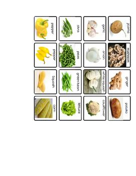 Sort Vegetables by Color