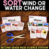 Sort What Changes the Landform Wind or Water? - Second Grade Science Stations