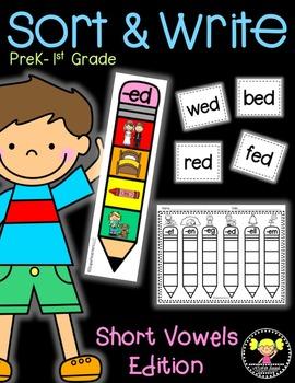 Sort & Write: Short Vowels