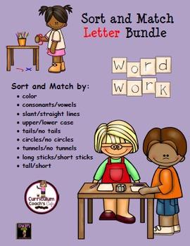Sort and Match Letter Bundle