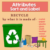 Earth Day Activity Recycle by Material