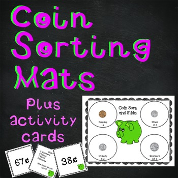Sort and Slide Coin Mats with Activity Cards