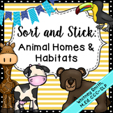 Sort and Stick: Animal Homes & Habitats