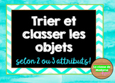 Sort and classify in French