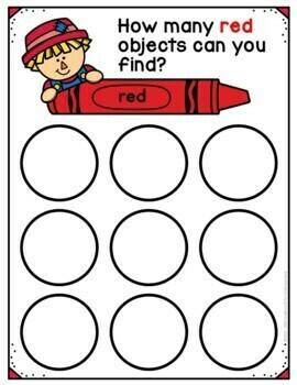 Sorting by Color Bundle for Preschool