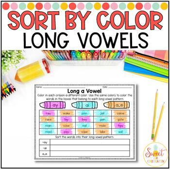 Sort by Color- Vowel Teams, Dipthongs, and R Controlled Vowels