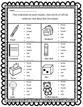 sort by property texture ccss aligned worksheets by happyhill tpt. Black Bedroom Furniture Sets. Home Design Ideas