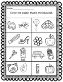 Sort by Property: Weight CCSS Aligned Worksheets FREEBIE