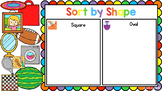 Sort by Shape - square and oval