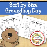 Sort by Size Activity Sheets - Color, Cut, and Paste - Gro