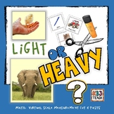 Measurement: Sort by Weight (Mini Booklets, T-Charts & Worksheets) (K.MD.1,2)