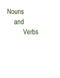 Sort by noun, verb, or adjective