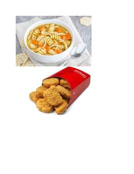 Sort food by meals