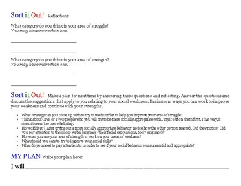 Sort it Out! A social skills categorization game