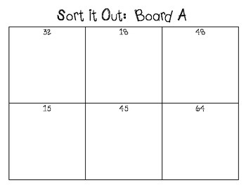 Sort it Out: An Equation/Solution Sorting Game
