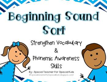 Sort it Out!  Beginning Sound Fun {Differentiated Phonemic