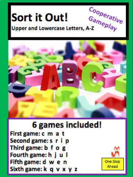 Sort it Out!  Letters A-Z (Uppercase and Lowercase) Cooperative Gameplay