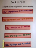 Sort it Out!  - Short and Long vowel word sort