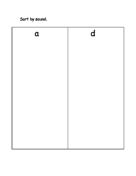 Sort picture by beginning sound