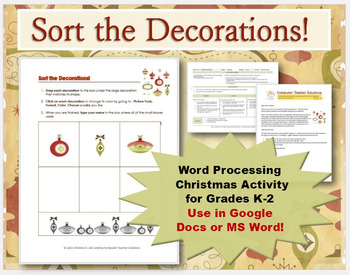 Sort the Decorations! for GOOGLE Docs & MS Word