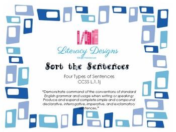 Sort the Sentences (Four types of Sentences)