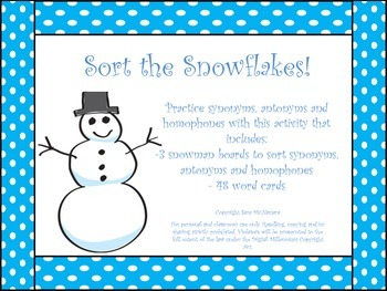 Sort the Snowflakes!