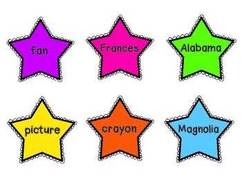 """Sort the Stars"" Common & Proper Nouns Literacy Center"