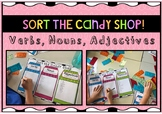 Sort the candy shop: Nouns, verbs and adjectives