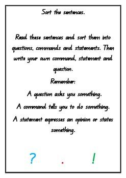 Sort the sentences