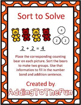 Sort to Solve Number Bonds & Addition