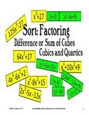 Sort:Factoring -Difference/Sum of Cubes-Cubics,Quartics