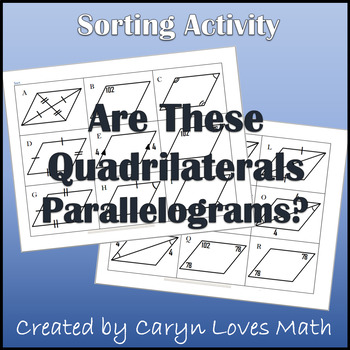 Is the Quadrilateral a Parallelogram~HS Geometry