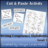 Writing Congruence Statement for Congruent Triangles ~ Sorting Activity