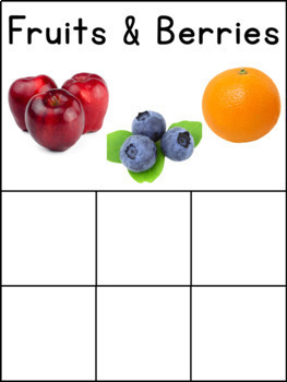 Sorting Activities Bundle for Occupational Therapy and ABA Set 1