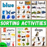 Sorting Activities Bundle Speech Therapy Set 1