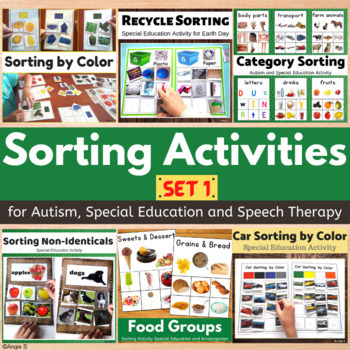 Autism Sorting Activities Bundle for Occupational Therapy and ABA