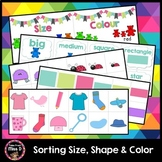 Sorting Size, Shape and Color