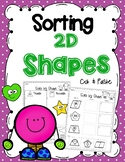 Sorting 2D Shapes- Cut and Paste